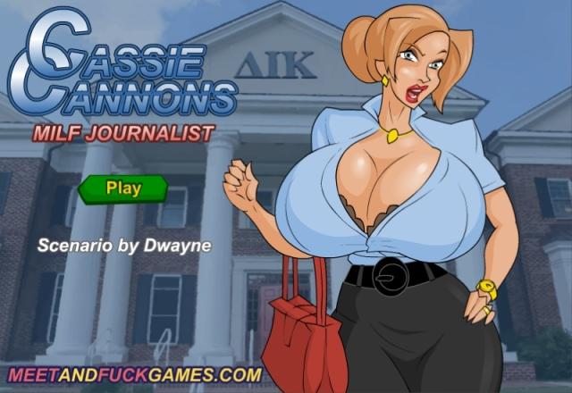 Cassie Cannons: MILF Journalist free porn game