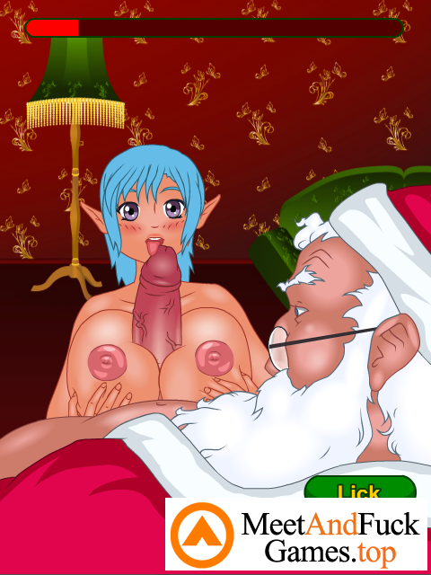 Christmas Bustle titty fuck
