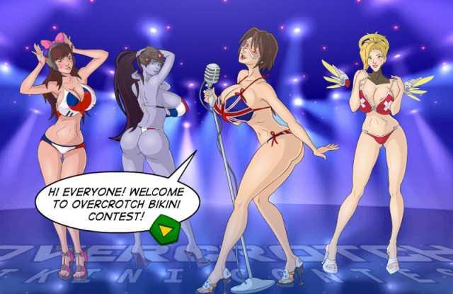 Overcrotch Bikini Contest online sex game