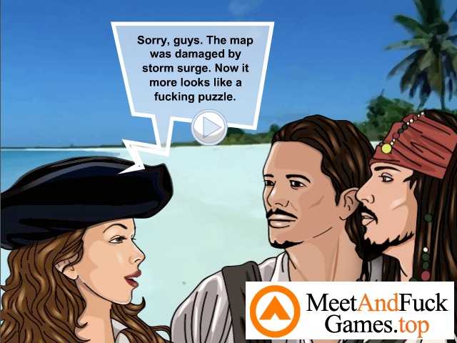 Pirates 2 guys pick up a girl on beach and fuck her