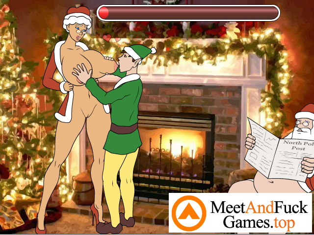 Unfaithful Mrs. Claus sex with an assistant